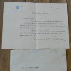 Militaria: CARTA DE EL SUBSECRETARIO DE LA PRESIDENCIA DEL CONSEJO DE MUNISTROS. REPUBLICA 5 DE JULIO DE 1936,. Lote 293741593