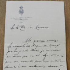 Militaria: CARTA DE EL SENADOR SECRETARIO DEL SENADO, 29 DE NOVIEMBRE DE 1909, CON FIRMA MANUSCRITA, MIDE 17 X. Lote 293742228