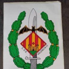 Militaria: PEGATINA TAMAÑO FOLIO GRUPO DE OPERACIONES ESPECIALES VALENCIA III. Lote 294035828