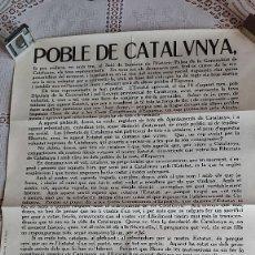 Militaria: U-247.- CARTEL POBLE DE CATALUNYA , CRIDA ALS AJUNTAMENTS A VOTAR L´ ESTATUT , PALAU DE LA GENERALIT. Lote 294149663