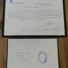 Militaria: CARTA DE JOAQUÍN CHAPAPRIETA TORREGROSA, MINISTRO DE HACIENDA EN LA REPUBLICA, 14 DE MAYO 1935, CON. Lote 294156893