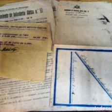 Militaria: LOTE DOCUMENTOS AÑO 1946 - 47 . DESTACAMENTO VILLA SANJURJO . REGIMIENTO INFANTERIA AFRICA Nº 53. Lote 294277593