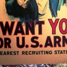 Militaria: CARTEL POSTER RETRO - I WANT YOU FOR US ARMY. RECLUTAMIENTO USA - GUERRA MUNDIAL ( I Y II). Lote 294573048