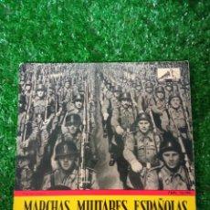 Militaria: SINGLE DISCO VINILO MARCHAS MILITARES ESPAÑOLAS EMI LA VOZ DE SU AMO1958. Lote 294811513
