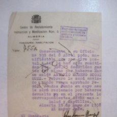 Militaria: GUERRA CIVIL-ALMERIA-CENTRO RECLUTAMIENTO MOVILIZACION E INSTRUCCION-AÑO 1938-VER FOTOS-(K-4463). Lote 295726703