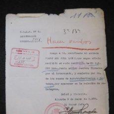 Militaria: GUERRA CIVIL-ALMERIA-CENTRO RECLUTAMIENTO MOVILIZACION E INSTRUCCION-AÑO 1938-VER FOTOS-(K-4465). Lote 295726888