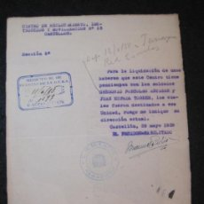 Militaria: GUERRA CIVIL-CASTELLON-CENTRO RECLUTAMIENTO MOVILIZACION E INSTRUCCION-AÑO 1938-VER FOTOS-(K-4469). Lote 295727263
