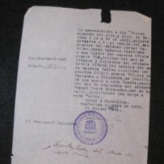 Militaria: GUERRA CIVIL-CASTELLON-CENTRO RECLUTAMIENTO MOVILIZACION E INSTRUCCION-AÑO 1938-VER FOTOS-(K-4470). Lote 295727348