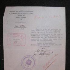 Militaria: GUERRA CIVIL-TARRAGONA-CENTRO RECLUTAMIENTO MOVILIZACION E INSTRUCCION-AÑO 1938-VER FOTOS-(K-4473). Lote 295727553