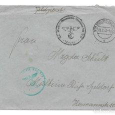 Militaria: ALEMANA NAZI III REICH SWASTIKA WAFFEN SS - SOBRE ORIGINAL EPOCA - WW2.. Lote 295825648