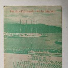 Militaria: ACTOS DE JURA DE BANDERA Y ENTREGA DE DESPACHOS EN EL ESCUELA NAVAL MILITAR (MARÍN, PONTEVEDRA)1962. Lote 295872718