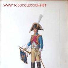 Militaria: JOSE LUIS ROMAN, TROMPETA GRANADEROS A CABALLO DE LA GUARDIA 1804/9 FIRMADO ENVIO CERTIFICADO GRATIS. Lote 27618834