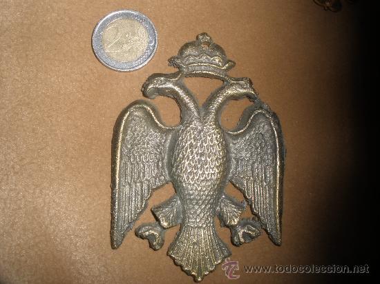 AGUILA BICEFALA DE BRONCE ANTIGUA (Militar - Reproducciones, Réplicas y Objetos Decorativos)