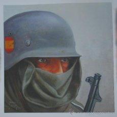 Militaria: DIVISION AZUL. LAMINA EN PAPEL OLEO. DE LA TIRADA NUMERADA DE 99 LAMINAS. BLUE DIVISION. LA MIRADA.. Lote 54377412
