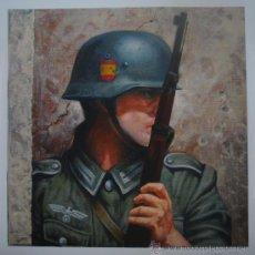Militaria: DIVISION AZUL. LAMINA EN PAPEL OLEO. NUMERADA DE LA TIRADA DE 99 EJEMPLARES. BLUE DIVISION.. Lote 35018329