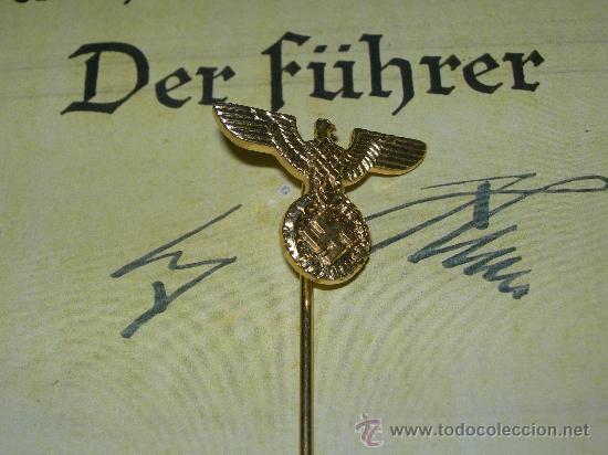 ALFILER INSIGNIA PARTIDO NSDAP (Militar - Reproducciones, Réplicas y Objetos Decorativos)