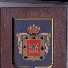 Militaria: ANTIGUA METOPA REGIMIENTO MIXTO DE INGENIEROS DE CANARIAS, MADERA-METAL. Lote 28339498