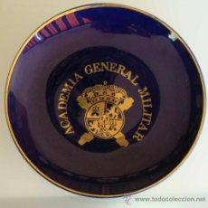 Militaria: PLATO DE CERÁMICA MILITAR. ACADEMIA GENERAL MILITAR. PLATA DE LEY. . Lote 29551983