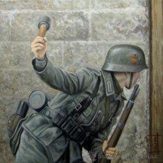 Militaria: LAMINA DE LA DIVISION AZUL. TIRADA LIMITADA DE 99 EJEMPLARES. BASADA EN LA OBRA DE CLAUZEL . Lote 34865274