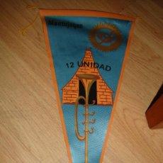 Militaria: BANDERIN DE INFANTERIA 12 UNIDAD MONTEJAQUE 1968, MEDIDAS 27 X 19 CM. Lote 30104182
