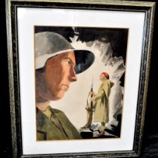 Militaria: CEFERINO OLIVÉ CABRÉ (REUS, TARRAGONA, 1907 - 1995) GOUCHE SOBRE PAPEL. ESCENAS DE LA GUERRA CIVIL. Lote 30295644
