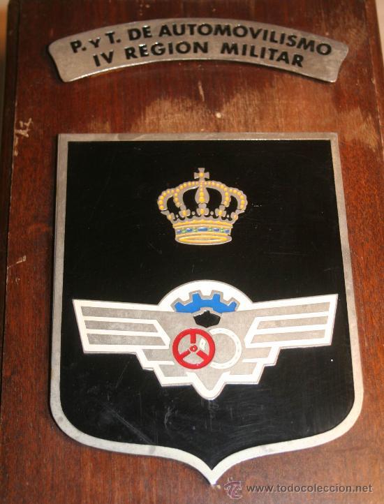 METOPA MILITAR P . Y T. DE AUTOMOVILISMO IV REGION MILITAR (Militar - Reproducciones, Réplicas y Objetos Decorativos)