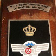 Militaria: METOPA MILITAR P . Y T. DE AUTOMOVILISMO IV REGION MILITAR. Lote 30608325