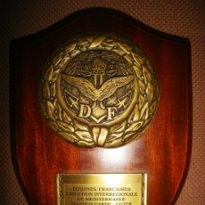 Militaria: METOPA FRANCESA DE LOS GUARDA COSTAS FRANCESES EN EL MEDITARRENEO. MEDIDAS: 20 X 15CM.. Lote 31692935