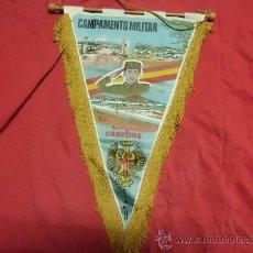 Militaria: BANDERIN CAMPAMENTO MILITAR SAN CLEMENTE SASEBAS. Lote 31762168