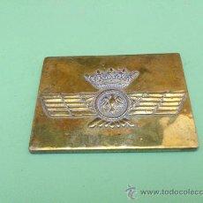 Militaria: PLACA, EMBLEMA, ESCUDO EJERCITO DEL AIRE. ESPAÑA. LATON.. Lote 32029269