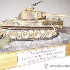 Militaria: PANZERKAMPFWAGEN V AUF G. 16 PANZERDIVISION. ALEMANIA 1945. DIORAMA ESCALA 1/72. Lote 33056870