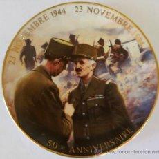 Militaria: II GUERRA MUNDIAL,PLATO 50 ANIVERSARIO 1944-1994, DESEMBARCO NORMANDIA,CONTRA EL III REICH-HITLER. Lote 33685701