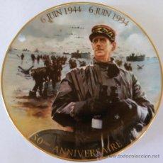 Militaria: II GUERRA MUNDIAL,PLATO 50 ANIVERSARIO 1944-1994, DESEMBARCO NORMANDIA,CONTRA EL III REICH-HITLER. Lote 33685731