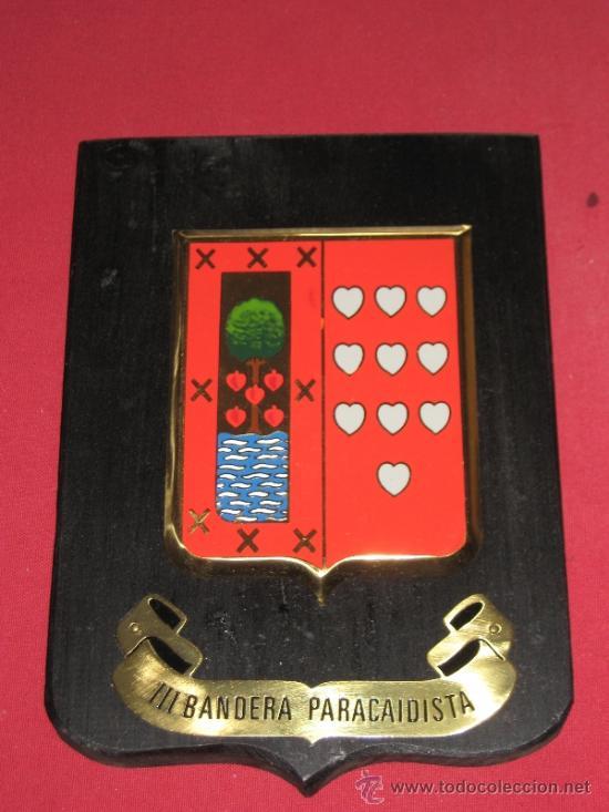 METOPA MILITAR - III BANDERA PARACAIDISTA (Militar - Reproducciones, Réplicas y Objetos Decorativos)