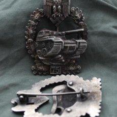 Militaria: INSIGNIA PANZER ASALTO 75 EN EL FRENTE 3º REICH. Lote 36330501
