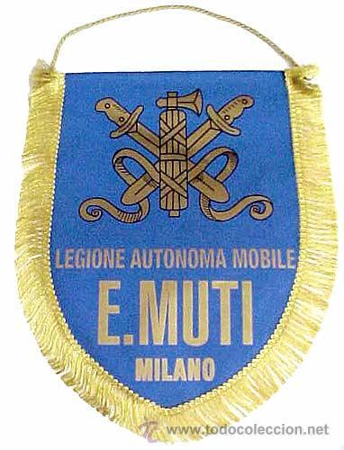 BANDERÍN LEGIONE AUTONOMA MOBILE E. MUTI. MILANO. ITALIA FASCISTA. 2ª GUERRA MUNDIAL. 1939-1945. (Militar - Reproducciones, Réplicas y Objetos Decorativos)
