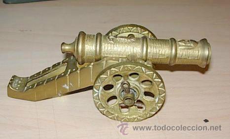 CAÑON DE METAL DESMONTABLE, MEDIDA MAXIMA LARGO 15 , ANCHO 7 CENTIMETROS (Militar - Reproducciones, Réplicas y Objetos Decorativos)