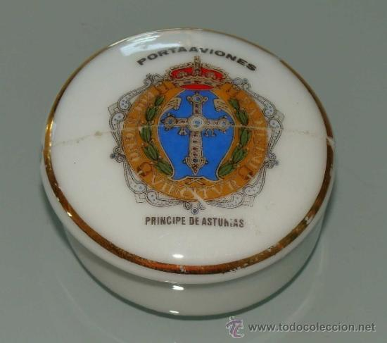 JOYERO DE CERÁMICA. ARMADA ESPAÑOLA. PORTAVIONES PRÍNCIPE DE ASTURIAS. (Militar - Reproducciones, Réplicas y Objetos Decorativos)