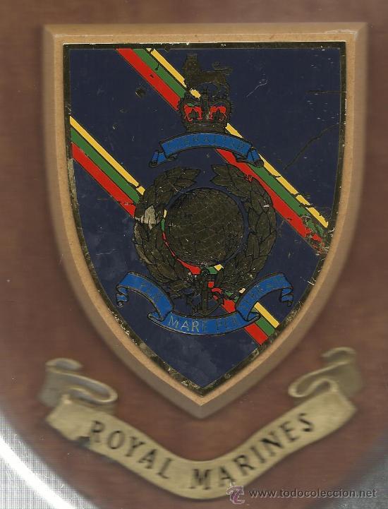 ANTIGUA METOPA DE ROYAL MARINES DE GIBRALTAR (Militar - Reproducciones, Réplicas y Objetos Decorativos)