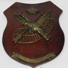 Militaria: ANTIGUA METOPA DEL REGIMIENTO DE ARTILLERIA A.A. N. 71, MIDE 24 X 21 CMS.. Lote 39163817