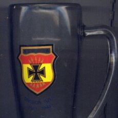 Militaria: JARRA DE CRISTAL. CONMEMORATIVA DIVISION AZUL. Lote 39464740