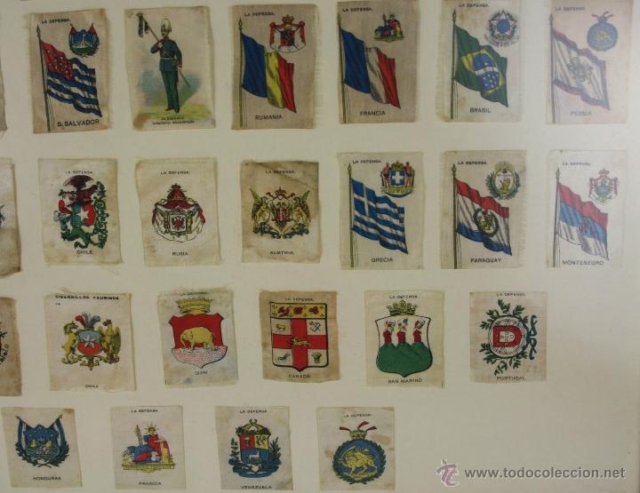 Militaria: K3-023. COMPOSICION DE SOLDADOS, BANDERAS Y ESCUDOS DE SALA IMPRESO EN SEDA. PRINC S XX. - Foto 7 - 39735182