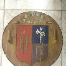Militaria: ESCUDO HERÁLDICO CIRCULAR S.XIX. Lote 40231326