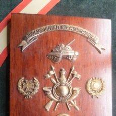 Militaria: METOPA CON MARCO INFANTERÍA MECANIAZADA GRUPO LOGÍSTICO GENERAL FALANGISTA CASAS DE VEGA 1984. Lote 40310699