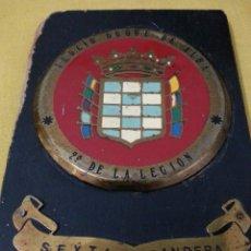 Militaria: METOPA AÑOS 70 , SEXTA BANDERA TERCIO DUQUE DE ALBA , 2º DE LA LEGION. Lote 40852015