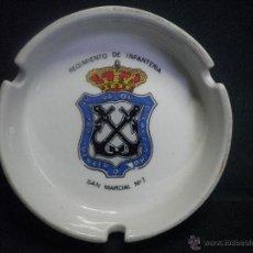Militaria: CENICERO DE CERAMICA REGIMIENTO INFANTERIA SAN MARCIAL Nº 1. Lote 40935652