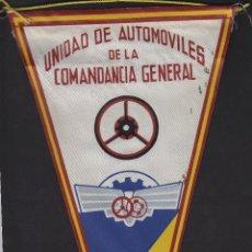 Militaria: BANDERIN ANTIGUO CEUTA . UNIDAD DE AUTOMOVILES DE LA COMANDANCIA GENERAL. Lote 41026010
