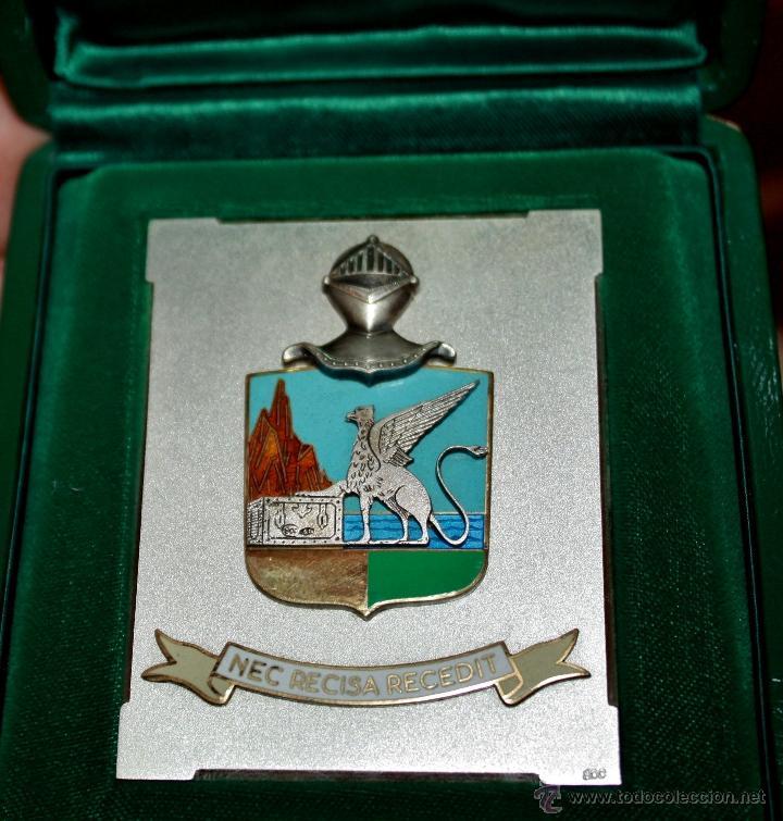 PLACA O MEDALLA DEL CUERPO DE GUARDA DE FINANZAS O GUARDIA DE ADUANAS,PLATA DE LEY (Militar - Reproducciones, Réplicas y Objetos Decorativos)