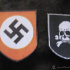 Militaria: CALCAS ADHESIVAS BARNIZADAS TOTALMENTE IMPERMEABLES CASCO ALEMAN SS TOTENKOF. Lote 196820173
