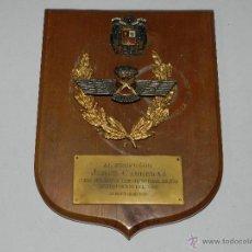 Militaria: (M) PLACA AL PROFESOR JORGE CARRERAS CURSO DIPLOMAS DERECHO NOTARIAL MILITAR INTERVENCION DEL AIRE . Lote 42651446